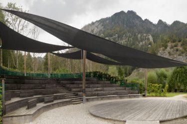 Bild zu Sonnensegel Anlage im Nationalpark Gesäuse in der Steiermark