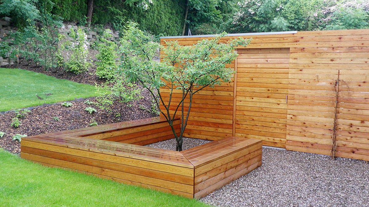 Gartenschrank und Sitzbank