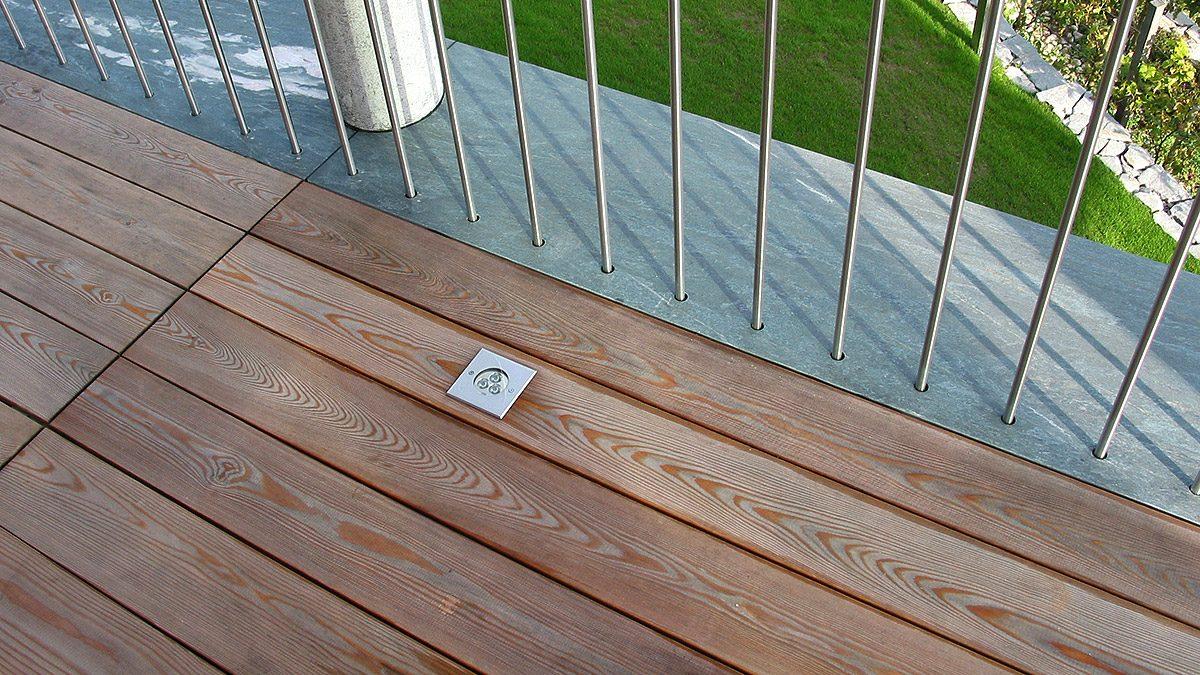 Lärchenholz für Terrassendielen