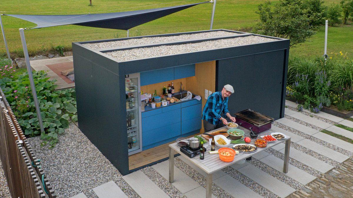 Gartenküche im Scharaum, Outdoorküche